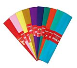 Set hartii creponate, 50x200 cm, 10 bucati/set, diferite culori