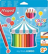 Set creioane colorate Color Peps My First Jumbo Maped, 18 culori
