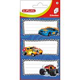 Set 9 etichete scolare cu masini