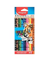 Creioane colorate, 12 buc/set, Animals