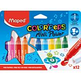 Set 12 carioci Maped Color'Peps Mini Power, Multicolor