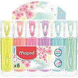 Set 5 markere evidentiatoare Fluo'Peps Classic Pastel Maped, Multicolor