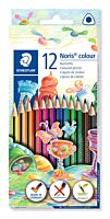 Set creioane colorate Staedtler, forma triunghiulara, 12 buc