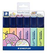 Set markere evidentiatoare Textsurfer, culori vintage, 6 buc/set