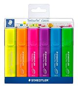 Set markere evidentiatoare Textsurfer, 6 culori/set