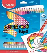 Set creioane colorate cu guma Color Peps Oops Maped, 24 culori