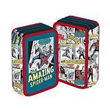Penar neechipat The Amazing Spiderman, 3 fermoare, 3 compartimente, Multicolor