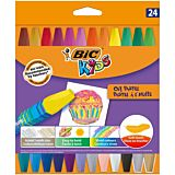Set 24 creioane cerate BIC Kids Oil Pastel, Multicolor