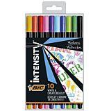 Set 10 finelinere BIC Intensity Fine, 0.4 mm, Multicolor