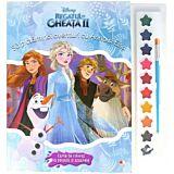 Disney. Regatul de gheata II. Sa pictam noi aventuri cu Anna si Elsa. Carte de colorat cu pensula si acuarele