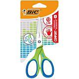 Foarfeca pentru stangaci BIC Comfort, maner de cauciuc, 13 cm, Verde/Albastru