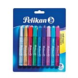 Lipici lichid universal cu sclipici, 9 culori diferite, Pelikan
