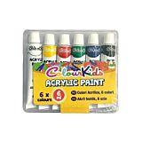 Set 6 vopsele acrilice Colour Kids, 6 ml, Multicolor