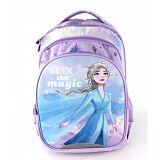 Ghiozdan scolar Disney Frozen, 3 compartimente, separator la interior, Multicolor