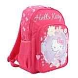 Ghiozdan pentru clasa pregatitoare Hello Kitty, 1 compartiment principal, 1 buzunar frontal, Roz