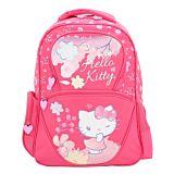 Ghiozdan scolar Hello Kitty, bretele ajustabile, 2 buzunare laterale, Roz