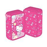 Penar neechipat Hello Kitty, 3 fermoare, 3 compartimente, Roz