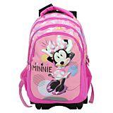 Ghiozdan scolar cu mecanism troller detasabil Disney Minnie Mouse, 3 compartimente mari, 1 buzunar frontal, Multicolor