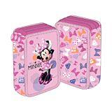 Penar neechipat Minnie Mouse, 3 fermoare, 3 compartimente, Multicolor