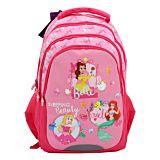 Ghiozdan scolar Disney Princess, 3 compartimente, 1 buzunar frontal, Multicolor