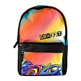 Ghiozdan scolar model graffiti, bretele ajustabile, 1 compartiment principal, 1 buzunar frontal, Multicolor