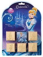 Set creativ 5 stampile din lemn Cinderella