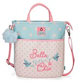Geanta shopping Enso Belle and Chic, PVC, 1 compartiment, 31.5x36x5.5 cm, Roz