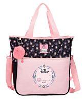 Geanta shopping cu compartiment laptop Enso Daisy, poliester, 34x36x14 cm, Multicolor