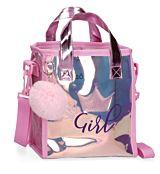 Geanta shopping Enso Super Girl, 1 compartiment, TPU, 20x22x10 cm, Mov