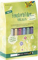 Set markere pentru decorare sticla in sezonul cald Folia, 15 piese, Multicolor