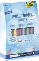 Set markere decorare sticla in sezonul rece Folia, 15 piese, Multicolor