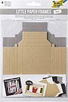 Set 8 rame din carton Folia, 4 culori/2 dimensiuni, Multicolor