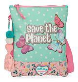 Geanta de umar Movom Save the Planet, 1 compartiment, poliester, 20x24 cm, Multicolor