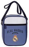 Geanta de umar Strokes Real Madrid, 1 compartiment, piele ecologica/poliester, 17x22x6 cm, Mov/Alb
