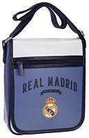 Geanta de umar Strokes Real Madrid, 1 compartiment, piele ecologica/poliester, 20x24x6 cm, Mov/Alb