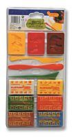 Set de modelaj cu 6 batoane plastilina Jovi, 3 forme si 3 ustensile incluse, Multicolor
