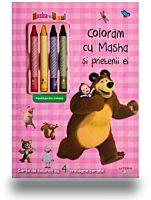 Masha si Ursul. Coloram cu Masha si prietenii ei (contine 4 creioane cerate)