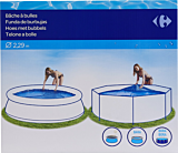 Husa solara pentru piscina Carrefour, 229 cm, Albastru