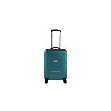 Troler cabina Square cu 4 roti, turquoise/portocaliu