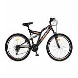 """Bicicleta de munte 24"""" R2449A Full Suspension Rich, Negru/Portocaliu"""