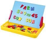 Tabla magnetica de invatare, 58 de piese, plastic, Multicolor