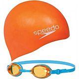 Set de inot pentru copii Speedo, Portocaliu/Albastru
