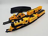 Set de asamblare tren utilitar cu sunete si lumini, plastic, Multicolor