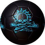 Minge fotbal Blue School Best Sporting, PVC/EVA, masura 5, Negru mat/Albastru fosforescent