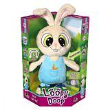 Jucarie de plus interactiva Iepurasul Loopy Doop Noriel Pets, Alb/Albastru