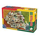 Puzzle Animale Romania D-Toys, 100 piese