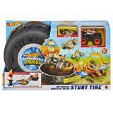 Set pista cu obstacole Stunt Tire Hot Wheels, 89 cm, Multicolor