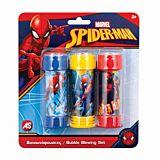 Set 3 borcanase pentru baloane de sapun Spiderman