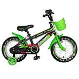 "Bicicleta pentru copii 16"" R16WTB Rich Baby, Negru/Verde"