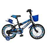 "Bicicleta pentru copii 16"" R16WTA Rich Baby, Negru/Albastru"